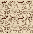 seamless pattern with cheese and spices design vector image vector image