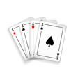 set four aces deck cards vector image