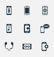 set of simple icons elements worldwide net vector image vector image