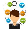 software programmer vector image vector image