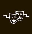 theatrical masks set vector image