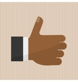 thumbs up icon design vector image vector image