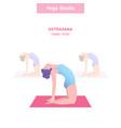 ustrasana camel pose yoga vector image vector image