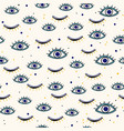 various evil eyes hand drawn talismans seamless vector image vector image