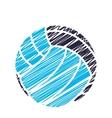 Volleyball sport emblem icon