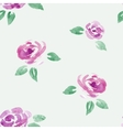 watercolor roses flowers seamless background vector image