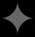 white halftone sparkle star icon vector image