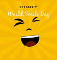world smile day suitable for greeting cards and vector image vector image