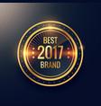 years best brand golden label badge label design vector image vector image