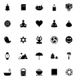 Zen society icons on white background vector image vector image