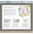 Website design template for building company vector image