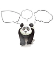 A thinking panda vector image
