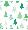abstract green christmas trees pattern vector image vector image