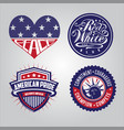 american badge collections vector image vector image