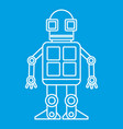 android robot icon outline style vector image vector image