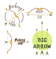 Archery club logo set vector image