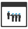 Army Squad Calendar Page Toolbar Icon vector image vector image