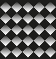 background black and white rhombuses vector image vector image