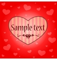 Background with hearts vector image vector image