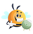 bee showing target on white background vector image