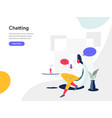 chatting concept modern flat design concept of vector image