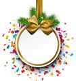 Christmas ball on confetti vector image vector image