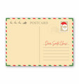 christmas letter to santa claus vintage envelope vector image vector image