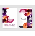 Circle abstract background business annual report