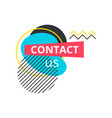 contact us badge label vector image