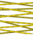 crime scene danger tapes vector image vector image