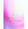 curved abstract pink background vector image vector image