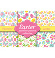 cute easter seamless pattern set with nestling vector image vector image