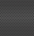 Dark metal cell seamless background vector image vector image