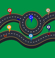 design of road infographic patterns with markings vector image vector image