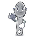 doctor spoon character cartoon style vector image vector image