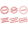 Draft stamps vector image vector image