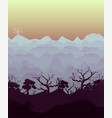 drawn lanscape with trees vector image
