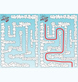 easy airplane maze vector image vector image
