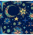 fantasy starry sky vector image vector image