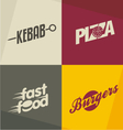Fast food logos vector image vector image