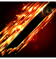 Fiery background with free space for your text vector image vector image