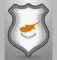 flag of cyprus badge and icon vector image vector image