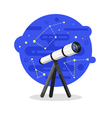 flat style of telescope vector image vector image