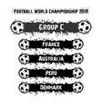 football championship 2018 group c vector image vector image