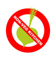 Forbidding character No Ban or Stop signs Kitchen vector image