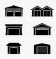 garages vector image vector image