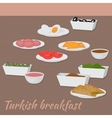 Good morning with Turkish breakfast Traditional vector image vector image