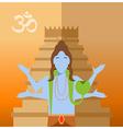 Hindu flat icon vector image vector image