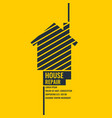 home repair the original poster in a flat style vector image vector image