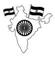 indian flags with map and ashoka chakra